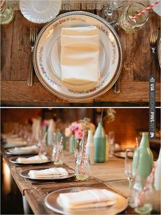 antique plate on top of silver charger | CHECK OUT MORE IDEAS AT WEDDINGPINS.NET | #wedding