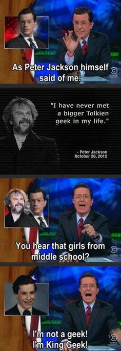 """I am King Geek!"""