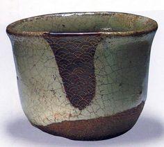 Karatsu Sake Cup. Période de Momoyama (début du 17e siècle) provient de la collection Tanakamaru à Hakata, Kyushuu.