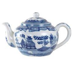 Blue Willow Teapot 16 oz