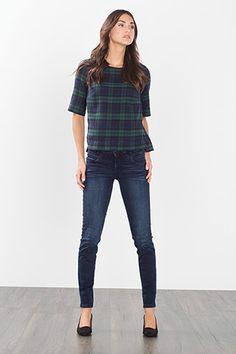 Esprit - Check flannel blouse, 100% cotton at our Online Shop