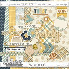 FREE Mee scrapbook kits free download: Digiscrap kit Fall memories and DIGI HOP freebie!