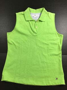85f638e837 Tommy Hilfiger NWT Women s Size S Golf Polo Shirt Sleeveless Green  1034