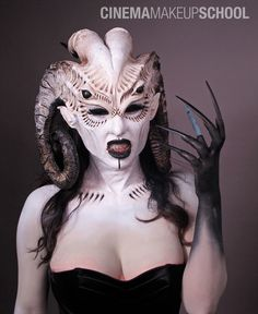 This is a look we love, we teach similar looks! Special FX Makeup!  Visit www.AstuteArtistryStudio.com or call (248) 477-5548 for more information about Astute Artistry and the Center For Film Studies in Farmington Hills, MI!