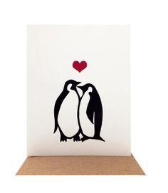 Penguins in Love  Screenprinted Valentine's Day by OrangeTwist, $4.50