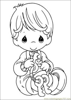 Little boy with keys - Precious Moments coloring pages. Description from pinterest.com. I searched for this on bing.com/images
