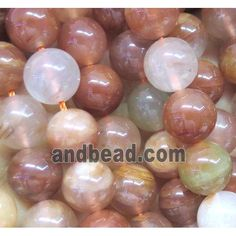Rainbow Quartz Beads, round, red (GMLB1883-8MM) approx 8mm dia