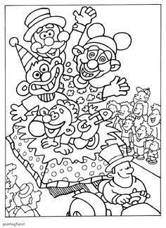 Optocht Kleurplaat Carnaval Kleurplaten On Pinterest Clowns Coloring Pages
