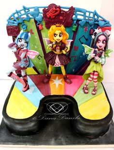 Equestria girl rainbow rocks cake