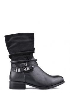 Dámské kotníkové boty na nízkém podpatku TENDENZ - černá 69aa145e07