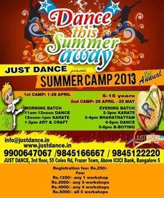 The best ever place for Summer Camp 2013.Try sending your children here and make them learn other activities too like dance,Karate,and so on..