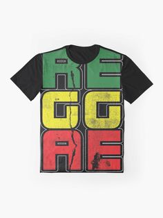 'Reggae Music Quote' Graphic T-Shirt by EddieBalevo Laptop Cases, Phone Cases, Throw Blankets, Throw Pillows, Jah Rastafari, God Bless Us All, Lion Of Judah, Graphic Quotes, Reggae Music