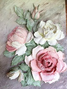 Diy Plaster, Plaster Crafts, Hand Painted Cakes, Rose Pictures, Wood Carving Art, Sculpture Painting, Polymer Clay Flowers, Flower Art, Art Flowers