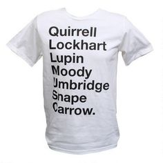 Harry Potter Defense Against Dark Arts Professors Adult White T-Shirt