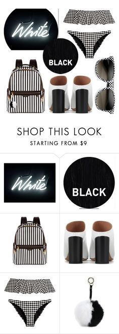 """Black + White"" by cherieaustin on Polyvore featuring Seletti, Sleep In Rollers, Henri Bendel, Maison Margiela, Adrienne Landau and ZeroUV"