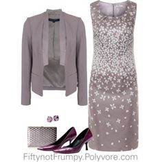 Dress the Part Gray & Plum love the color combo! #SeniorStyle #SeniorFashion #StayingClassy