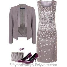 Dress the Part Gray & Plum love the color combo! #SeniorStyle #SeniorFashion #StayingClassy