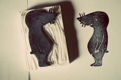 MOLE STAMP! hand-carved rubber ||| DIY, stationery, planner