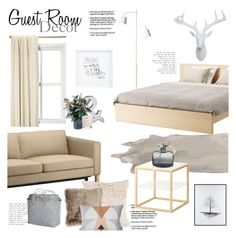 """""""Guest Room Decor"""" by beg1214 ❤ liked on Polyvore featuring interior, interiors, interior design, home, home decor, interior decorating, Croscill, John-Richard, Design 55 and ferm LIVING"""