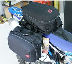 8d7c7b0aa0b comprar ¿ Cómo-sí multifunción Riding Travel equipaje moto Racing  herramienta cola Bolsas motocicleta alforja moto side Bolsas silla Bolsas