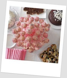 Pop Cakes for baby shower made by me.  Yum