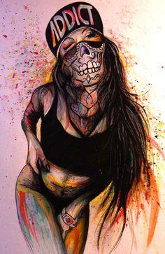 Kunst von Noah – My Great Pins Graffiti Art, Art Anime Fille, Anime Art Girl, Cartoon Kunst, Cartoon Art, Fantasy Kunst, Fantasy Art, Dope Kunst, Arte Black