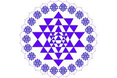 Seal of Solomon This consists of two triangles superimposed and interlaced  so as to form a six-pointed star. Wirth terms it the 'star of the microcosm',  or a sign of the spiritual potential of the individual who can endlessly deny  himself. In reality it is a symbol of the human soul as a 'conjunction' of consciousness  and the unconscious, signified by the intermingling of the triangle  www.sriyantras.com