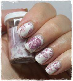 KimsKie's Nails: Foil manicure: English Rose