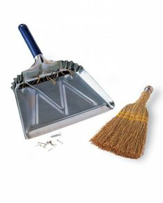 Adhere a strip of magnetic tape, sold at hardware stores, toward the rear of your dustpan. The tape will attract any small metal objects -- such as nails, brads, or screws that find their way onto the floor -- holding them fast as you tilt the pan to sweep up more debris.