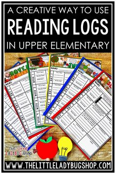 Reading independently helps students enjoy reading more by focusing on books that they love! Whether your students are reading informational or narrative texts, there are several creative ways to use printable reading logs with questions in the classroom. Reading Logs with questions are a great alternative to traditional reading logs for upper elementary kids in 3rd grade, 4th grade, 5th grade and home school classrooms.