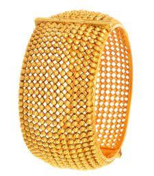 Buy Grandiose Gold Bead Designer Kada (Openable) bangles-and-bracelet online Gold Bangles Design, Gold Jewellery Design, Jewelry Design Earrings, Jewelry Art, Gold Kangan, Golden Jewelry, Bangle Bracelets, Jewels, Cute Blouses