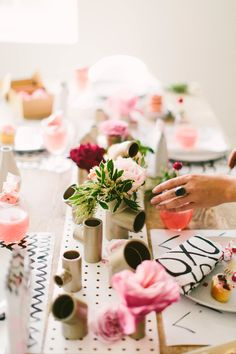 Photography : To Wander And Seek  | Flowers : Lavenders Flowers  Read More on SMP: http://www.stylemepretty.com/living/2015/02/03/modern-valentines-day-inspired-party/