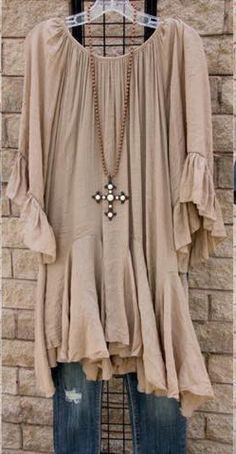 Mocha Plus Size Tunic                                                       …