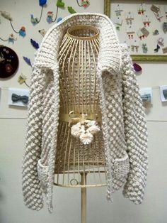 My New Aesthetic Cardigan Odd MollyOdd Mollylovely knit jacket Odd MollyOdd MollyGrobstrickjacke mit Zipper, Blau Carlo ColucciCarlo ColucciOlymp Stri Crochet Coat, Crochet Cardigan, Crochet Clothes, Knit Fashion, Sweater Fashion, Knit Jacket, Knitting Designs, Pulls, Hand Knitting
