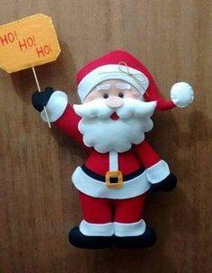 Papa Noel de fieltro - Moldes
