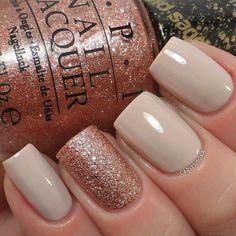 nail designs nude nails & sparkly nails