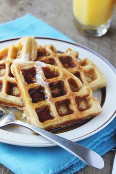 Whole Wheat Honey Ricotta Waffles for One - Yes to Yum