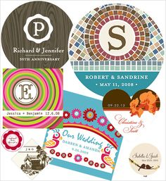 Personalized Wedding Stickers from Bliss Wedding Market