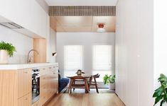 A Lovingly Restored Mid-Century Marvel In Mount Martha Modern Japanese Architecture, Australian Architecture, Australian Homes, Sustainable Architecture, Galley Style Kitchen, Family Kitchen, Kitchen Reno, Timber Panelling, Melbourne House