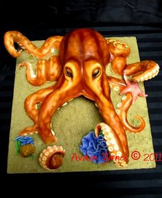 Octopus Cake - this is seriously talent