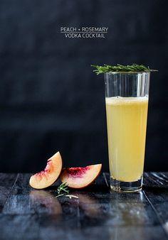Peach + Rosemary Vodka Recipe | Apartment 34