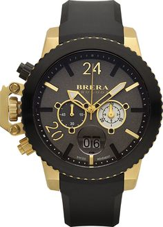 Brera Orologi Militare Rose Gold and Navy Blue Ionic-Plated Stainless Steel  Watch with Navy Blue Rubber Strap, a790734f8716