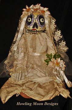 Dia de los Muertos, Gourdhead Bride Doll to be in the summer issue of Art Doll Quarterly