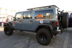 Jeep JK Six Pack concept from the 2012 SEMA show **A one off built by Quality Metalcraft and AEV to showcase the concept of a full size, 3 row Wrangler Unlimited. I'd upgrade to one of these in a heartbeat if it ever went into production**
