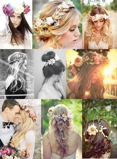 blomsterkrans bryllup