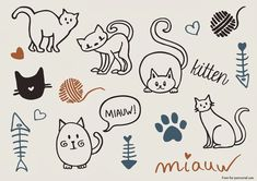 Curly Made: Free Cat Vectors
