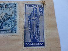 5Krs. Yardim Old Turkiye Historical Postage Stamp