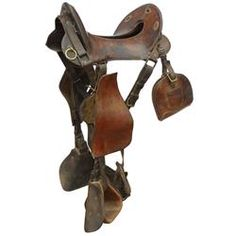 Saddle, 1904 Pattern McClellan Cavalry Saddle, c.1900's era, totally complete in Good orig cond.
