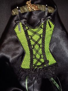 Envy Green UNDERMENTS Christmas Lingerie Ornament Decoration OOAK Handmade  (seller i.d. elina133)