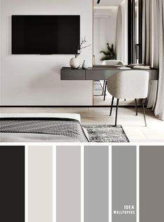 11 Gorgeous Bedroom in Grey Hues – Grey Color schemes – Home Sweet Home Antique Living Rooms, Cozy Living Rooms, Modern House Design, Modern Interior Design, Modern Houses, Beautiful Bedroom Designs, Home Room Design, Luxury Bedroom Design, Bedroom Color Schemes